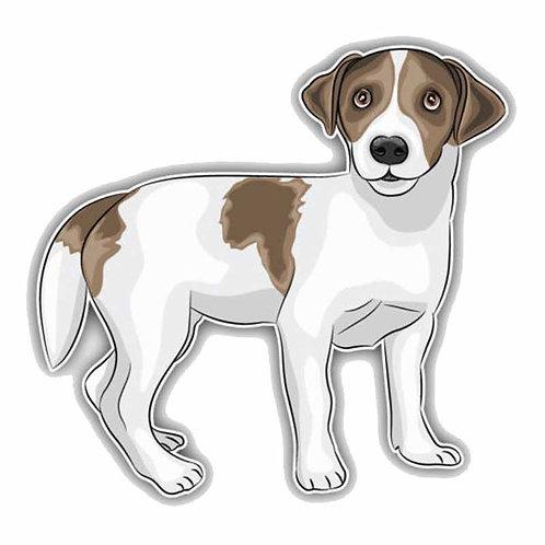 Jack Russell hond auto sticker