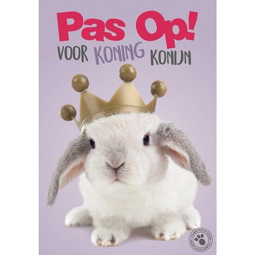 Konijn waakbord - Pas op voor koning konijn