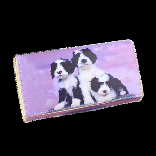 Vrouwen portemonnee met Border Collie puppies afbeelding
