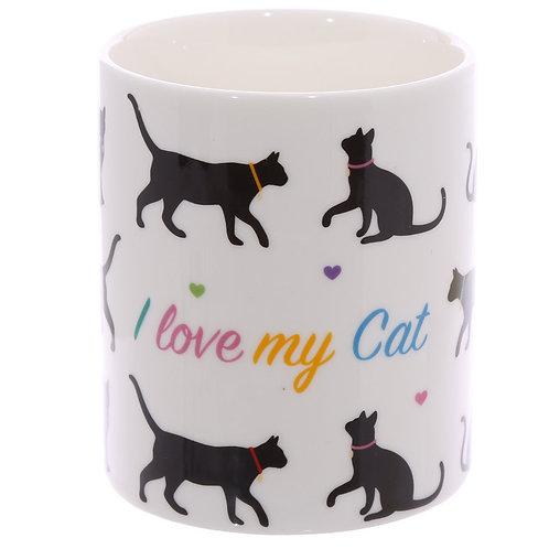 I Love My Cat Porselein Mok