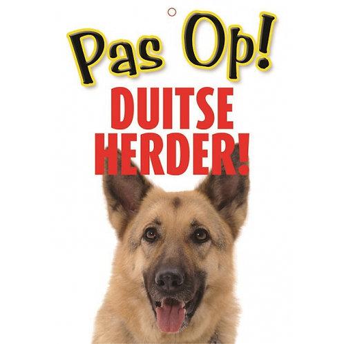 Honden waakbord pas op Duitse Herder