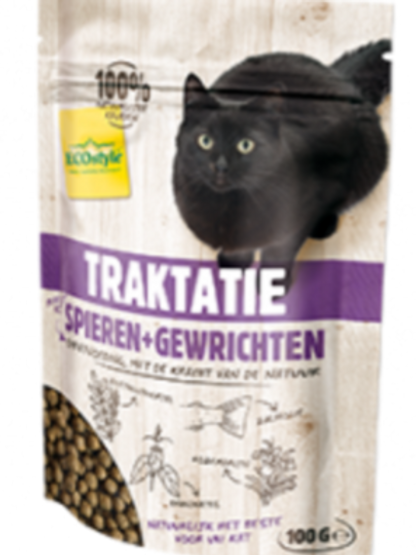 Ecostyle spieren en gewrichten traktatie - kattensnacks - 100 gr