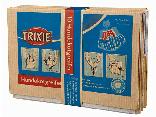 Trixie papieren hondenpoepzakje - bundel 10 stuks