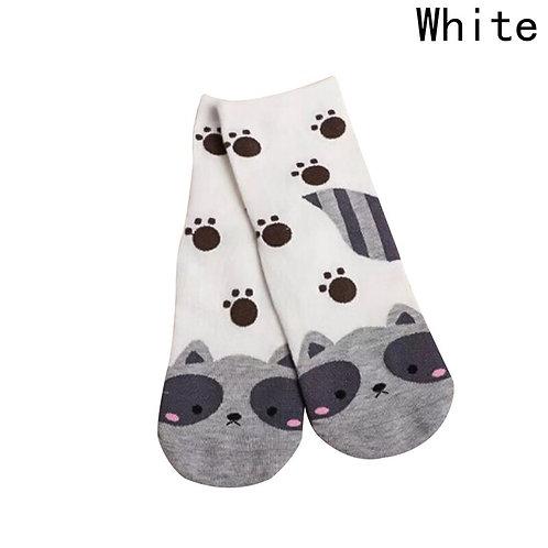 Grappige kat print sokken