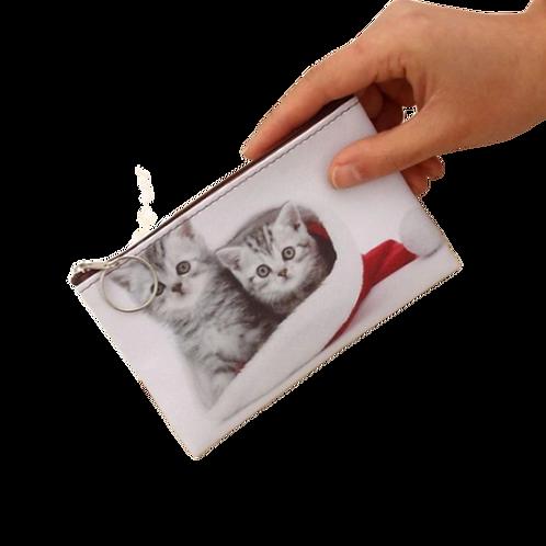 Kittens print munten portemonnee