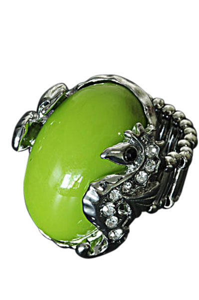 Zeepaardje elastische ring - groen