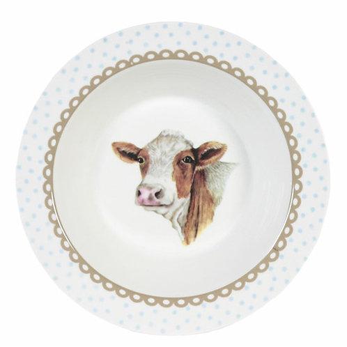 Diep bord Happy Cow,23cm -van Jet ter Steege