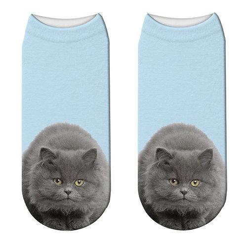 Brits korthaar print sokken