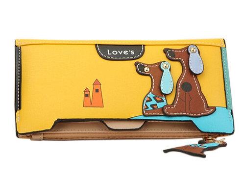 Vrouwen portemonnee met hondenmotief