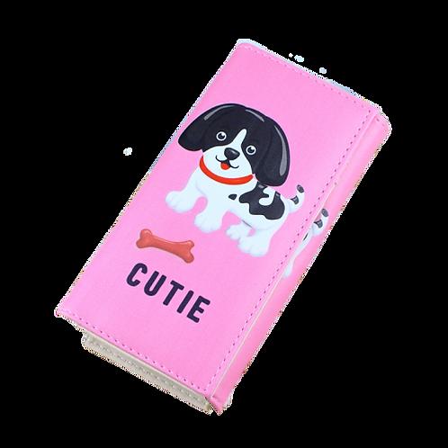 Vrouwen portemonnee met cute hondenmotief