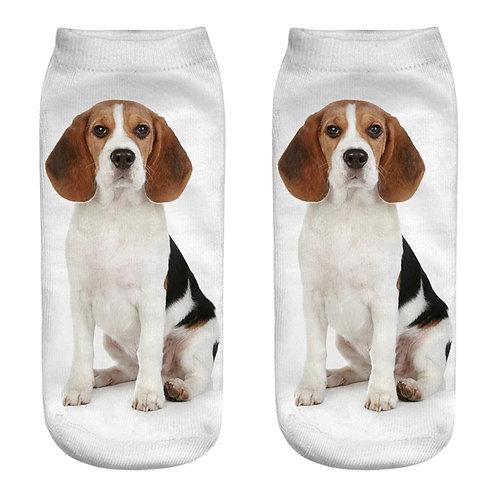 Beagle print sokken