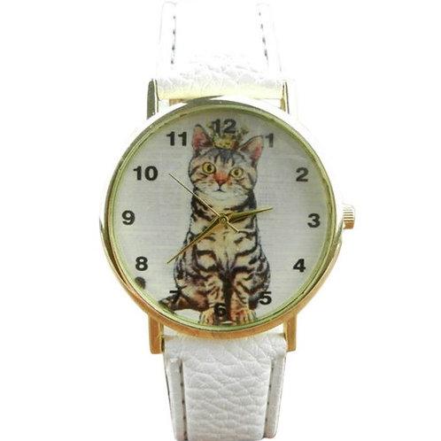 Horloge met kat print