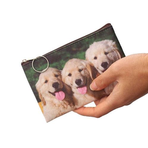 Golden retriever print munten portemonnee