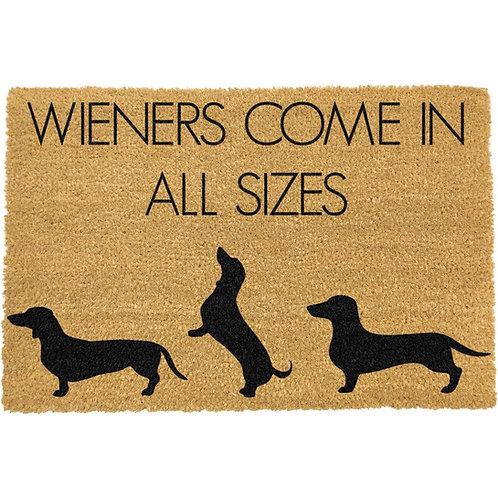 Teckel deurmat - Weiners come in al sizes
