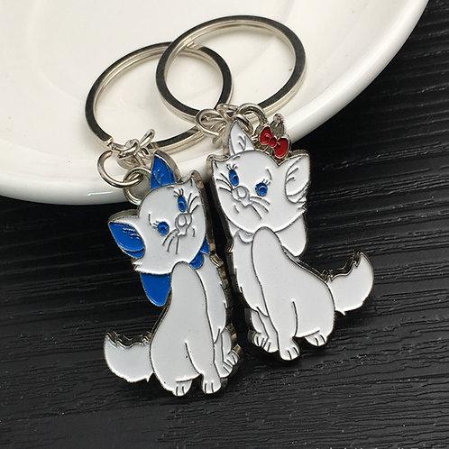 Lovers sleutelhanger witte katten