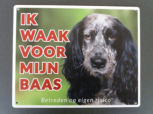 Waakbord hond - Engelse Cocker