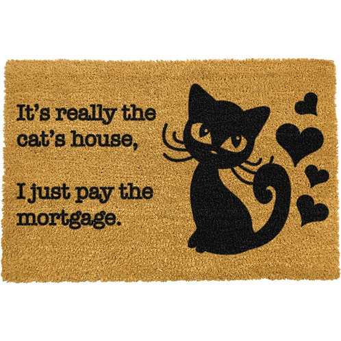 Deurmat- It's really the cat's house, I just pay the mortgage