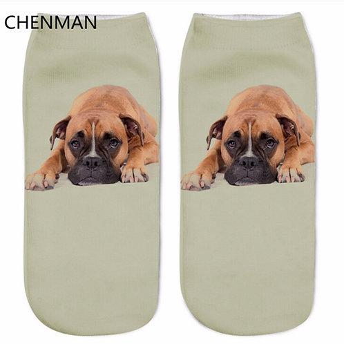Boxer print sokken