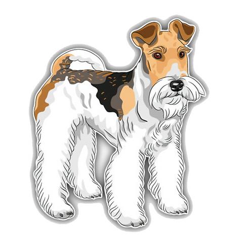 Fox Terrier hond auto sticker