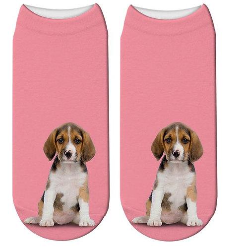 Beagle puppy print sokken