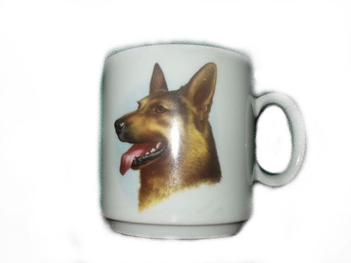 Mok Duitse Herder - hond hoofd