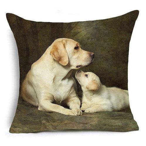Labrador retriever met pup print kussenhoes