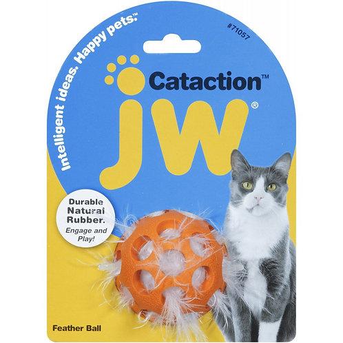 JW cataction feather ball - speelgoed voor katten - bal met veertjes
