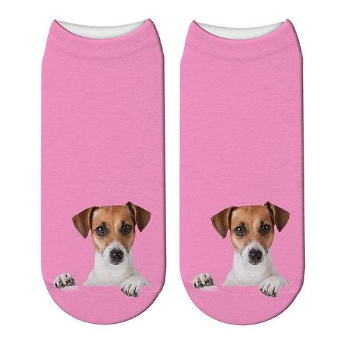 Jack Russell print sokken