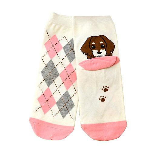 Grappige hond print sokken