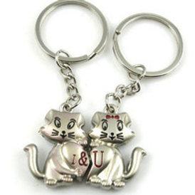 Kitty lover sleutelhanger - paar