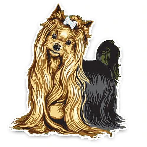 Yorkshire Terrier auto sticker