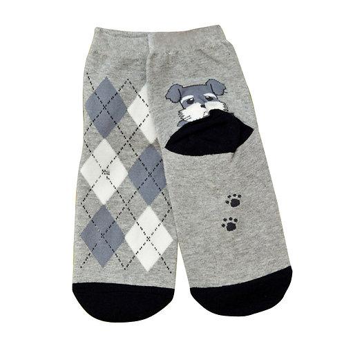 Grappige Schnauzer print sokken
