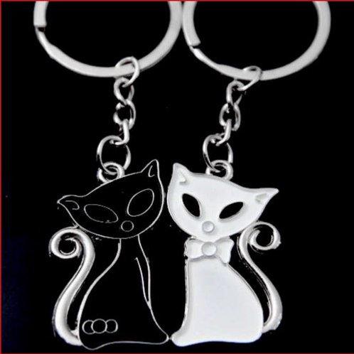 Lovers sleutelhanger kat - 1 paar
