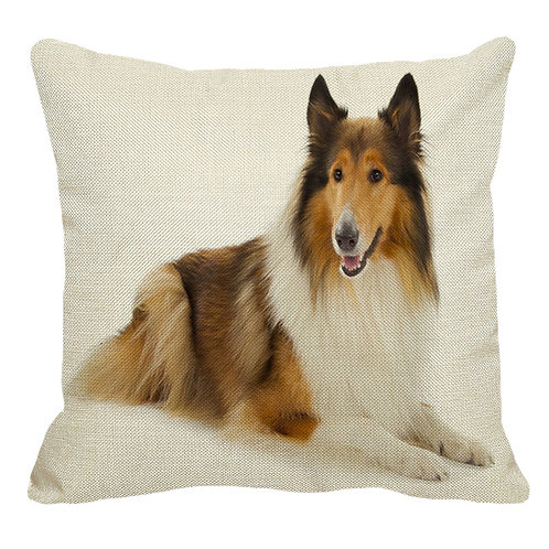 Liggende Border Collie print kussenhoes