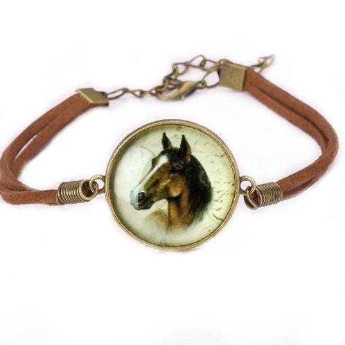 Paard lederen armband