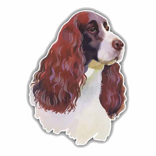 Engels Cocker Spaniel hond hoofd auto sticker