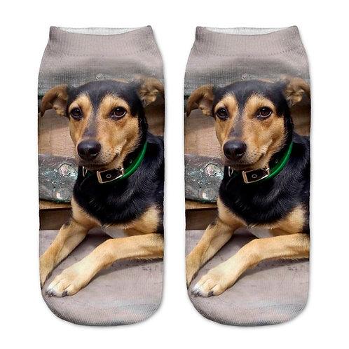 Kruising hond print sokken