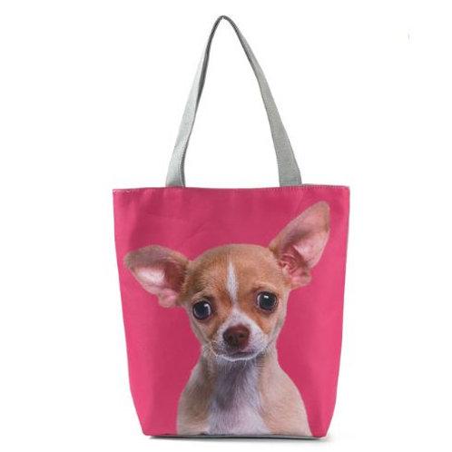 Chihuahua print schoudertas