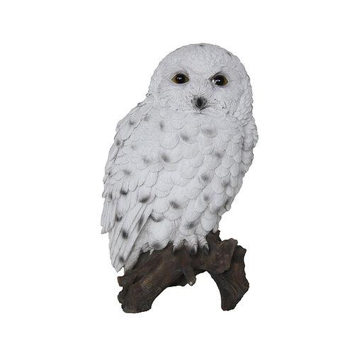 Sneeuwuil op stam beeldje