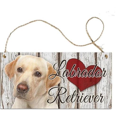 Houten hangbordje Labrador Retrievier'