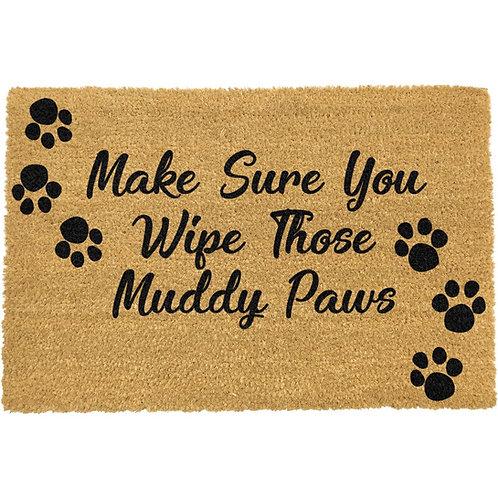 Deurmat - Make sure you wipe those muddy paws