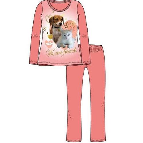 Kinderpyjama met hond en kat