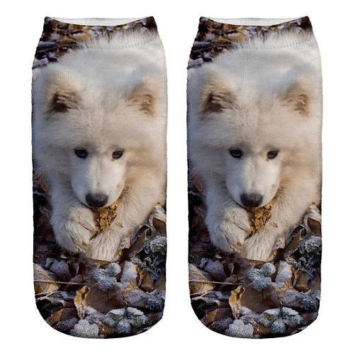 Samojeed print sokken