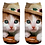 Thumbnail: Sokken met kitten print - kitten met mexicaanse hoed