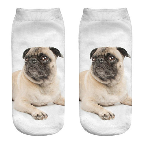 Mops print sokken 5