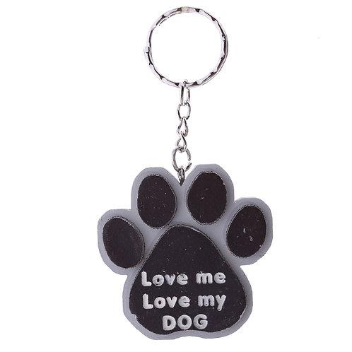 Dierenliefhebber sleutelhanger in tasje - Love me love my dog