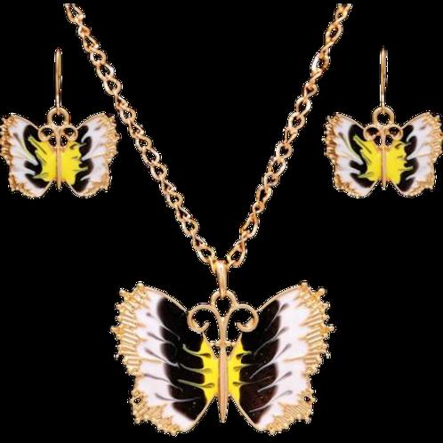 Vlinders sieraden set
