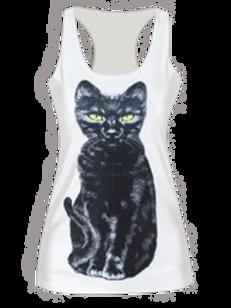 Black cat tank top