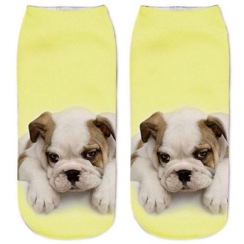 Engelse bulldog puppy print sokken