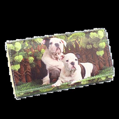 Vrouwen portemonnee met Engelse Bulldog afbeelding